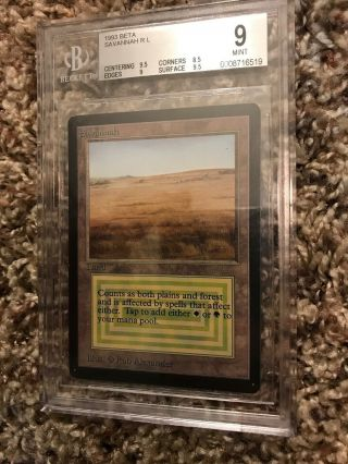 Magic The Gathering Savannah Bgs 9 Limited Edition Beta English Mtg