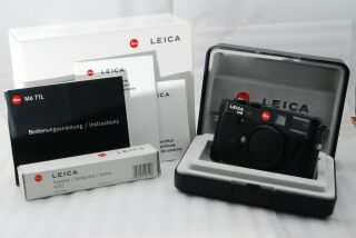 """ Rare Top "" Leica M6 Ttl 0.  85 35mm Rangefinder Camera In Black 3064"