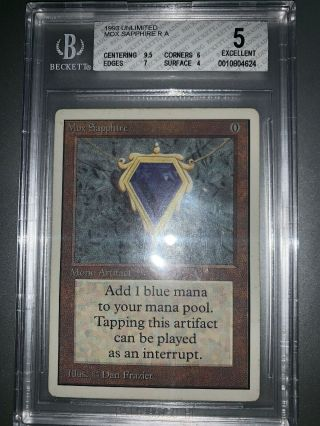 Mox Sapphire Unlimited Bgs 5 Magic The Gathering Mtg