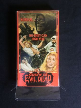 Return Of The Evil Dead Rare Horror Vhs W Box Protector See Store