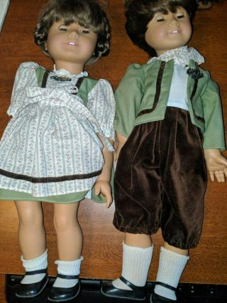 "Gotz Puppe Modell 18 "" Romina & Romino All Vinyl Dolls W/ Outfits Rare"