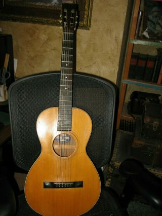 Vintage 1895 Howe - Orme Parlor Guitar With Case.  Rare