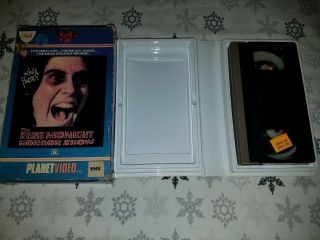 The Eerie Midnight Horror Show Vhs Planet Video Very Rare Big Box