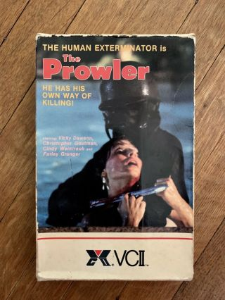 """the Prowler"" Vhs Big Box Horror Film Rare"
