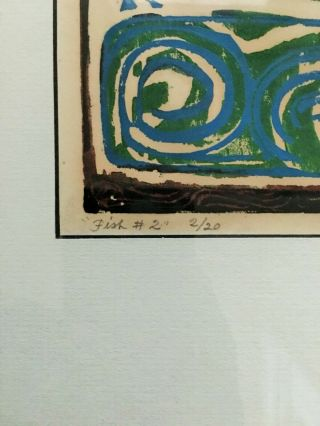 David C Driskell Artist Woodcut Rare Limited Edition 2/20 Art 2
