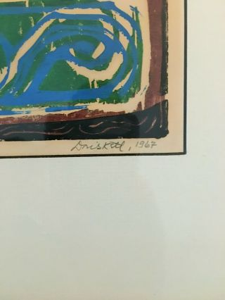 David C Driskell Artist Woodcut Rare Limited Edition 2/20 Art 4