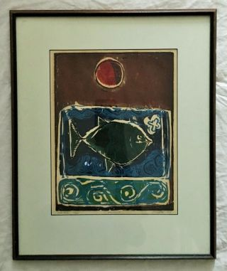 David C Driskell Artist Woodcut Rare Limited Edition 2/20 Art 5