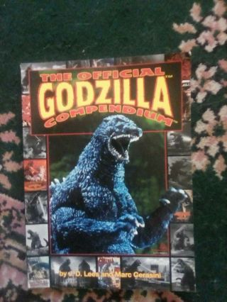 The Official Godzilla Compendium By Marc Cerasini & Jd Lees (rare,  Out Of Print)