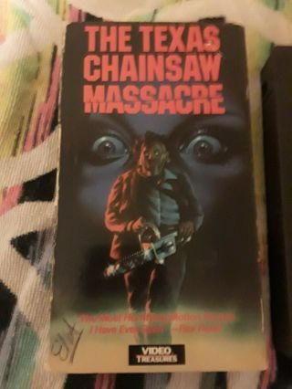 The Texas Chainsaw Massacre Vhs Rare Horror Video Treasures Release Gore Slasher
