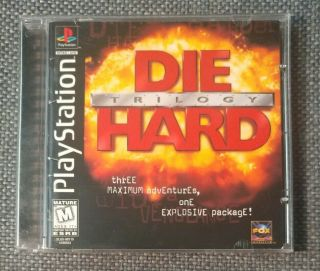 Die Hard Trilogy Playstation Ps1 Ps2 Ps3 Complete Rare Black Label