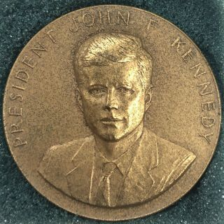 John F Kennedy Rare 1963 Official Appreciation Medal; One Of Only 300 Struck