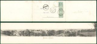 1903 V Rare Triple Panorama Of Singapore Postcard Penang Dato Kramat (93)