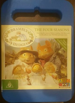 Brambly Hedge The Four Seasons Rare Deleted Dvd Cartoon Animation Tv Series