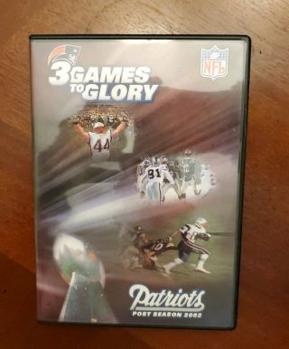 3 Games To Glory (2002) Dvd Oop Rare Nfl England Patriots Bowl