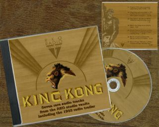 "King Kong 1933 "" 7 Rare Kong Soundtracks Including Orig.  1933 Radio Ad 80 Min Cd """