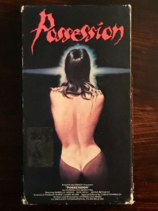 Possession Vhs Rare Erotic Horror Vestron Video Isabelle Adjani Sam Neill