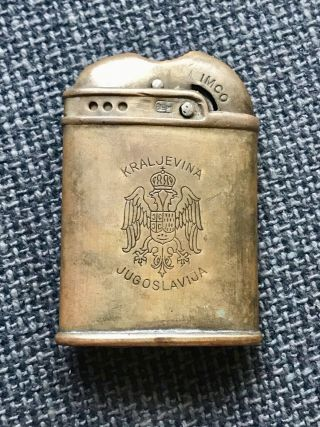 Rare Mechanical Gasoline Lighter Imco 2300 Austria Lighter Kingdom Of Yugoslavia