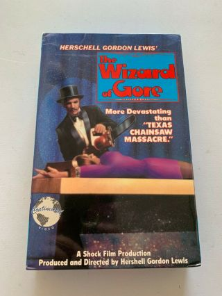 Rare The Wizard Of Gore Vhs 1970 Big Box Hershell Gordon Lewis Continental Video