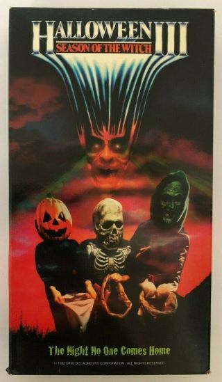 Halloween Iii Season Of The Witch Rare & Oop Horror Movie Goodtimes Video Vhs