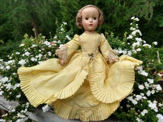 """Vintage Madame Alexander """" Godey Lady """" Doll 14 """" Outfit 1950s W/ Tag Rare"""