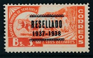 [3431] Venezuela 1937 Rare Stamp Very Fine Mh Value $340