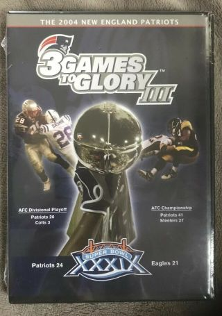 England Patriots 3 Games To Glory Iii (dvd 2005 2 Disc Set) In Euc Rare&oop