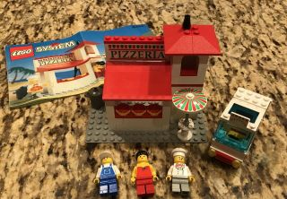Lego 6350 Town Pizza To Go - Rare Vintage - 99 Complete