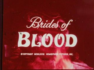 35mm Grindhouse Classic Horror Trailer - Brides Of Blood - 1968 Rare