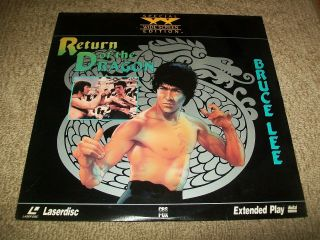 Return Of The Dragon Laserdisc Ld Widescreen Format Rare