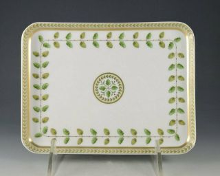 Bernardaud Limoges Constance Rare Rectangular Pastry Tray With Tags