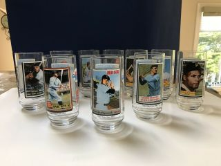 Topps 1993 Mcdonalds Glasses Rare Complete Set Of 10 Yaz,  Ruth Gehrig Clemente