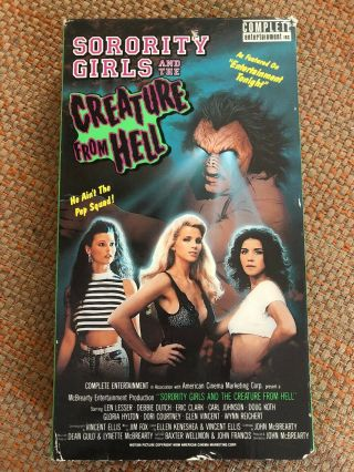 Sorority Girls And The Creature From Hell Vhs Mcbrearty Rare Cult