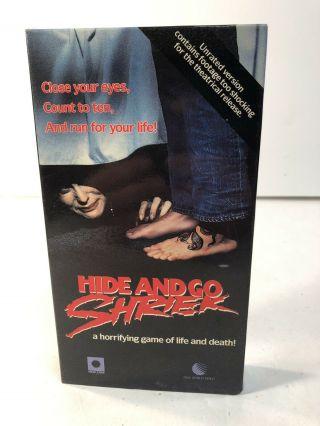 Hide And Go Shriek 1988 Unrated Uncut Vhs Horror Slasher Rare Oop Slasher 80s