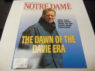 1997 Notre Dame Ncaa Football Yearbook Preview Blue And Gold Annual Rare