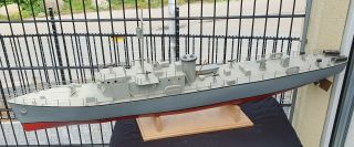 Rare Toy Boat Destroyer Ca.  48 Inch Like Ito Japan Chris Craft 1970s Vintage