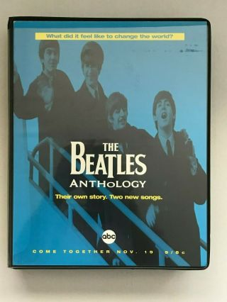 """ Very Rare "" 1995 "" Beatles Anthology "" (vhs) Advance Video / Reviewers Package"