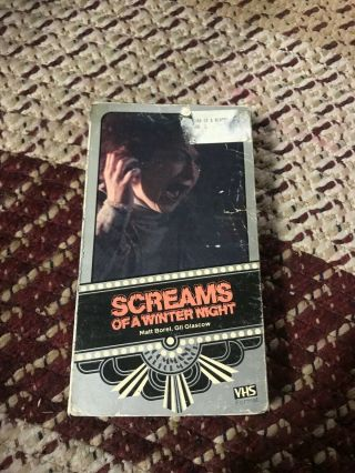Scream Of A Winter Night Horror Sov Slasher Rare Oop Vhs Big Box Slip