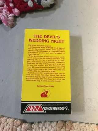DEVILS WEDDING NIGHT WIZARD HORROR SOV SLASHER RARE OOP VHS BIG BOX SLIP 3