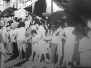 EXTREMELY RARE 16mm FILM 1940s SHANGHAI CHINA w/ Homeless Refugees MOVIE 5