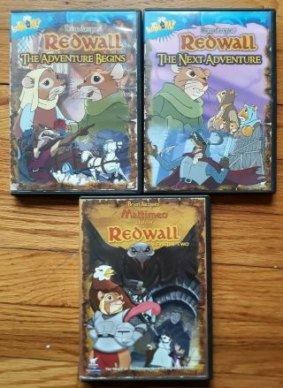 Redwall Complete Seasons 1 & 2 Tale Of Mattimeo Next Adventure Begins Rare Oop