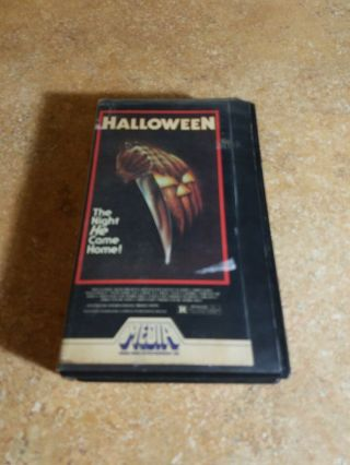 Halloween Rare Media Home Entertainment Vhs Movie 1981,  Plays Perfect,  Hard Case
