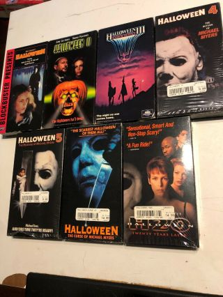 Halloween 1 - 7 Vhs Horror Slasher Rare Oop John Carpenter Michael Myers
