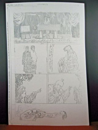 Sandman 26,  Page 4 - Dc Production Stat - Kelly Jones - Rare Pencil