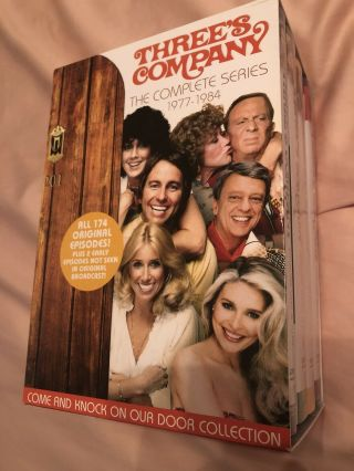 Threes Company: The Complete Series Dvd Rare Good Shape Box,  Discs Nm