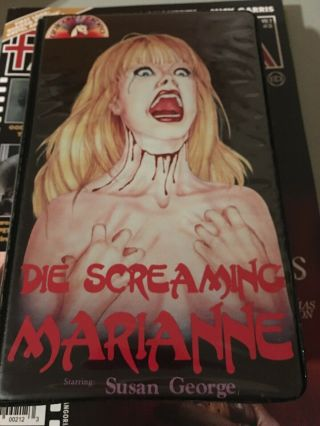 Die Screaming Marianne,  Unicorn Video,  Rare Horror Vhs,  Big Box,  Susan George