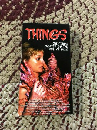 Things Horror Sov Slasher Rare Oop Vhs Big Box Slip