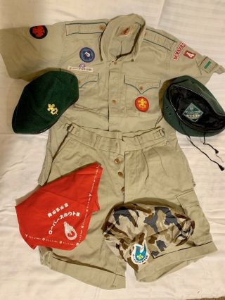 Rare Vintage 1990s Complete Nippon Japan Scout Uniform Designed By Ralph Lauren