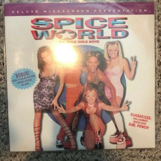 "Spice World : The Spice Girl Movie / Widescreen - 12 "" Laserdisc Ld Rare Oop Posh"