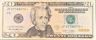 "Rare $20 Star Note "" Trinary "" - Us Currency - Series 2009"
