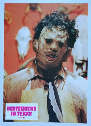 Texas Chainsaw Massacre (1974) Rare German Lcs Leatherface